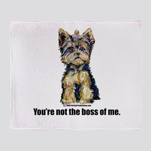 Yorkshire Terrier - Yorkie Bo Throw Blanket